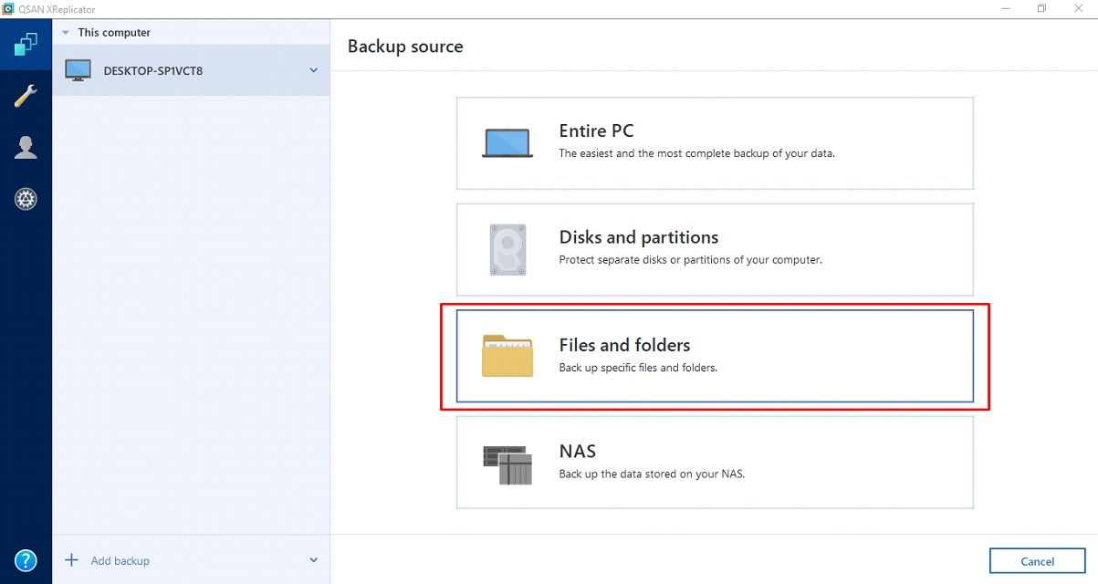 Open your XReplicator and choose source from PC (1)
