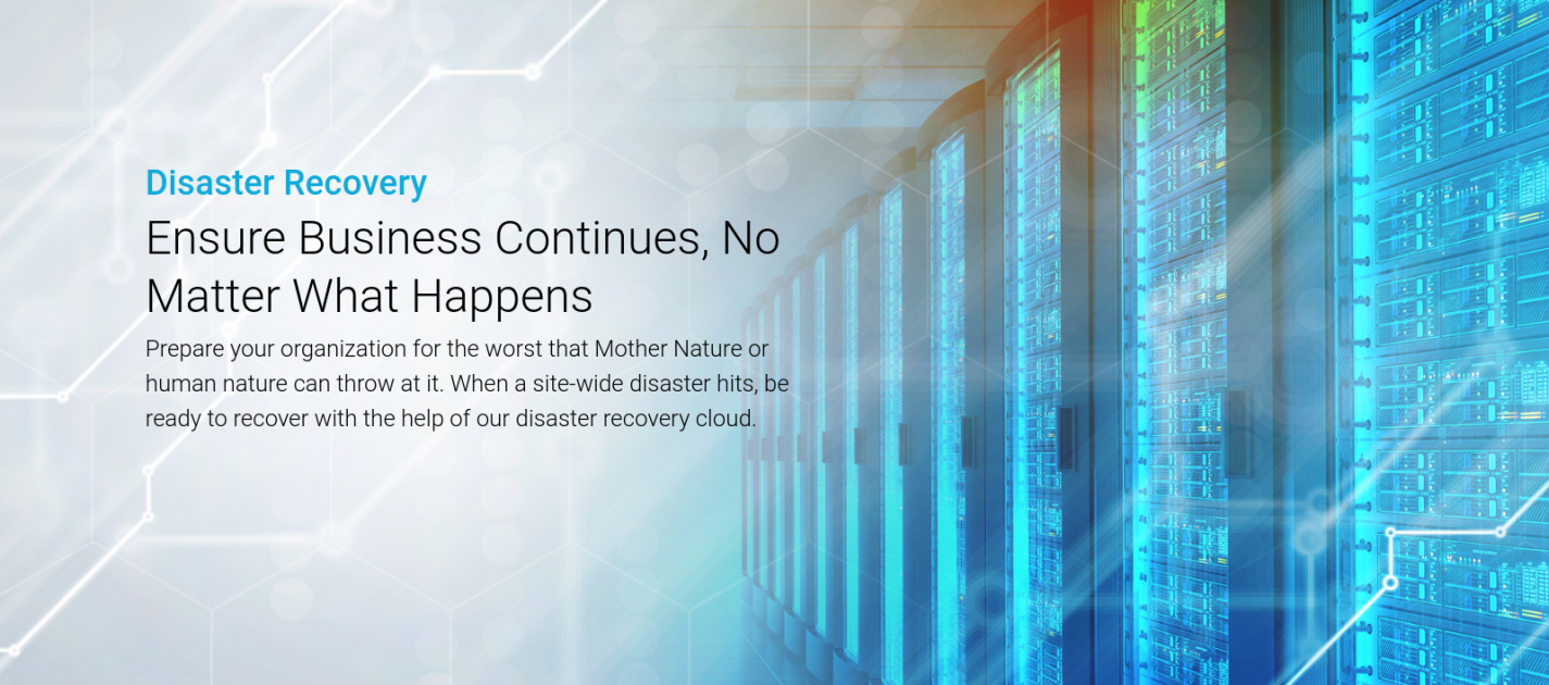 StorageCraft Disaster Recovery banner
