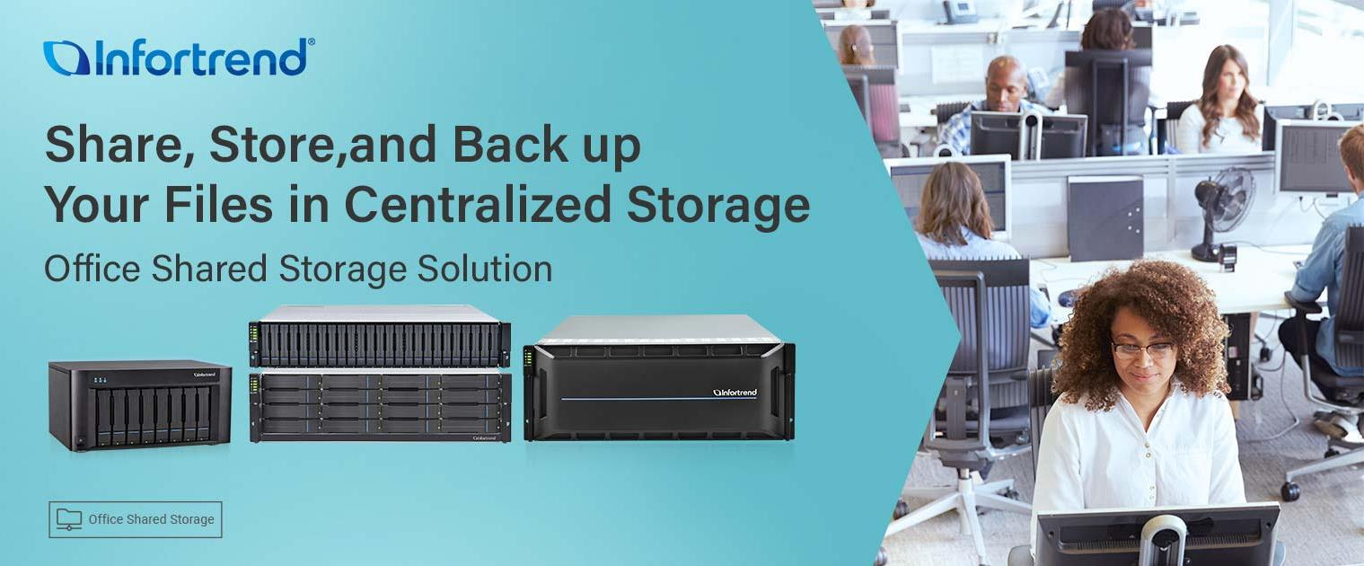 Infortrend Office Shared Storage banner
