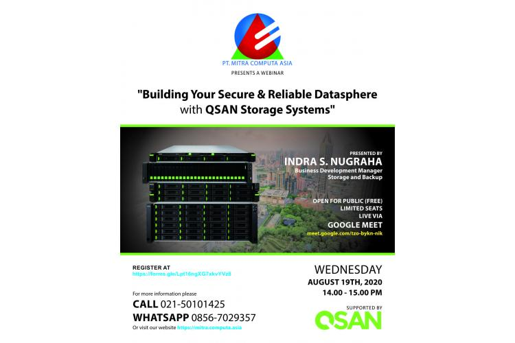 Building Your Secure & Reliable Datasphere with QSAN Storage Systems