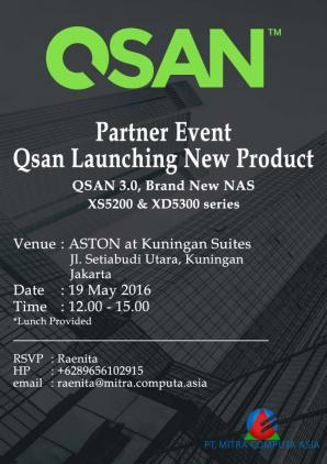 Qsan NAS XS5200 and XD5300 series launching banner.