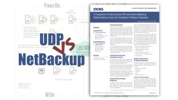 UDP Goes Head-to-Head with NetBackup