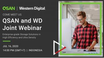 QSAN and Western Digital Joint Webinar in Indonesia banner