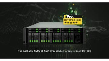 ITPro Awarded QSAN XCubeFAS 3126D 5-Star Editor's Choice Review